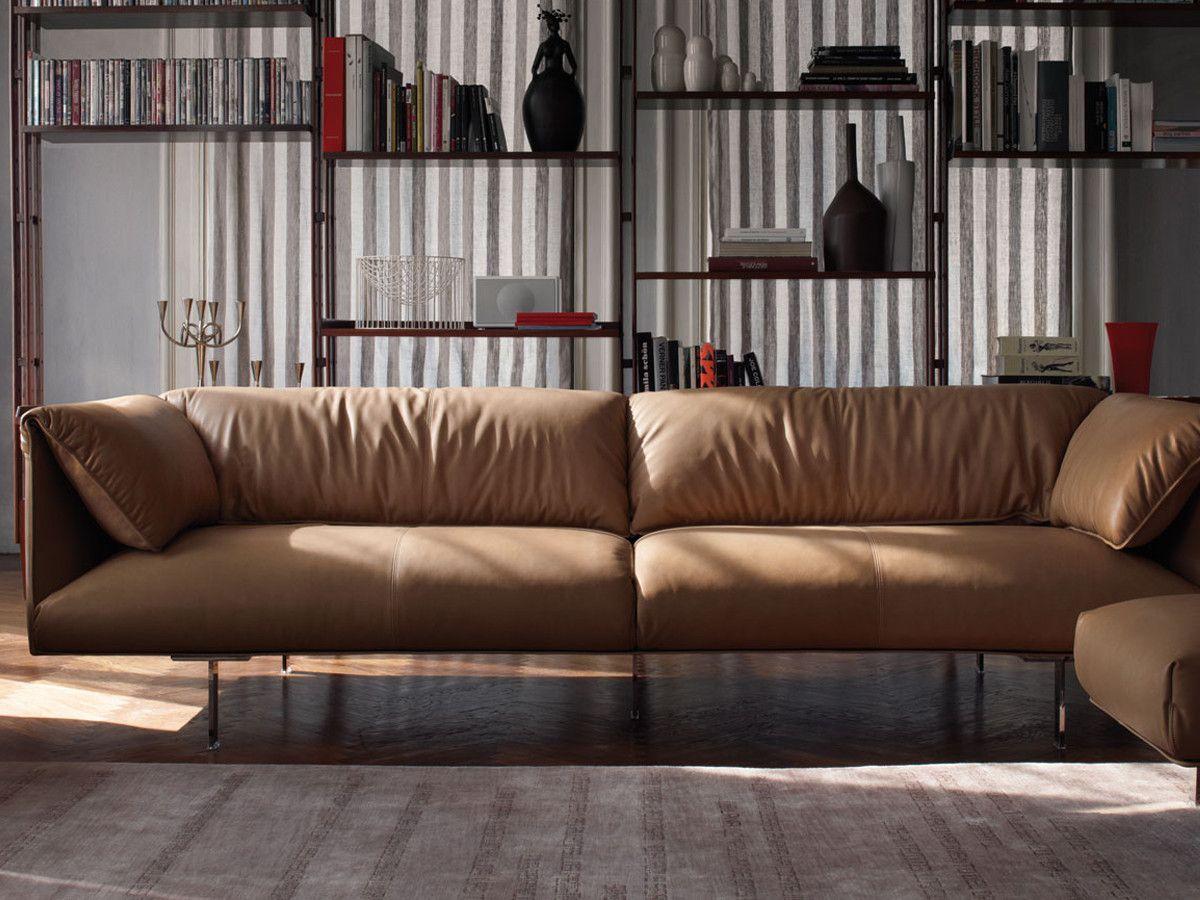 Poltrona Frau John John Three Seater Sofa Luxury Sofa Living Room Three Seater Sofa Contemporary Leather Sofa