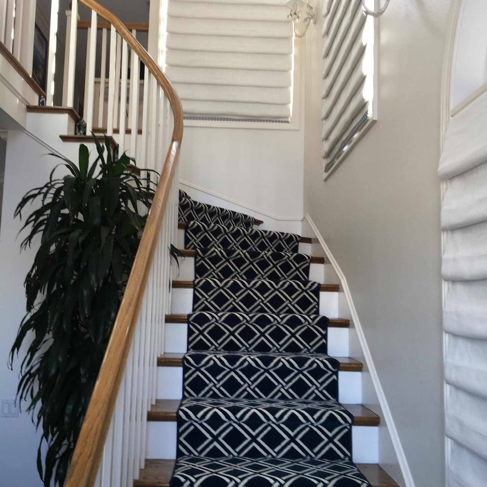 Replacing Carpet With A Stair Runner: Nourison Sparta Stair Runner