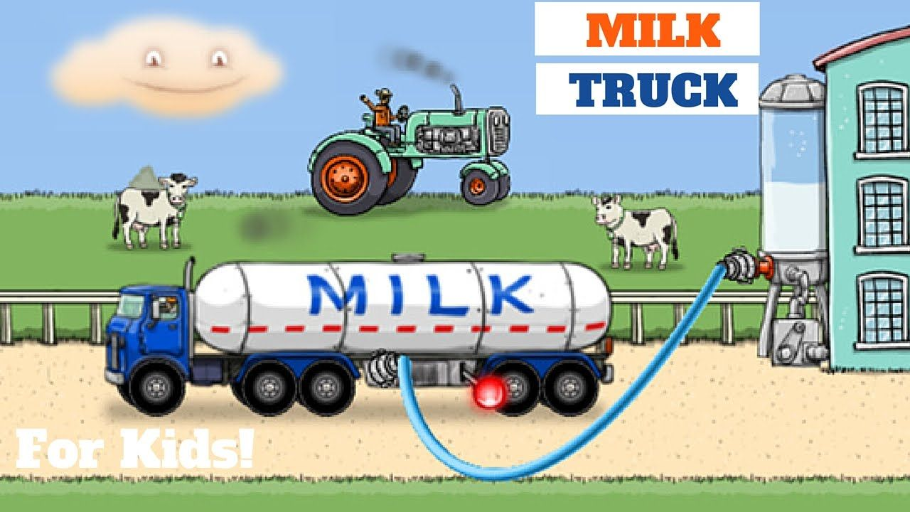 Milk Tanker Truck Bring On The Chocolate Milk L For Kids