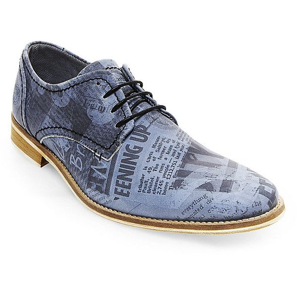 Steve Madden Men's Phoennix Oxford Shoes (1.110 NOK) ❤ liked on Polyvore featuring men's fashion, men's shoes, blue multi, steve madden mens shoes, mens blue leather shoes, mens oxford shoes, mens blue shoes and mens two tone oxford shoes