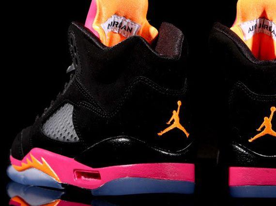 6f54ec7e3adb70 Air Jordan V Retro GS - Black - Bright Citrus - Fusion Pink ...