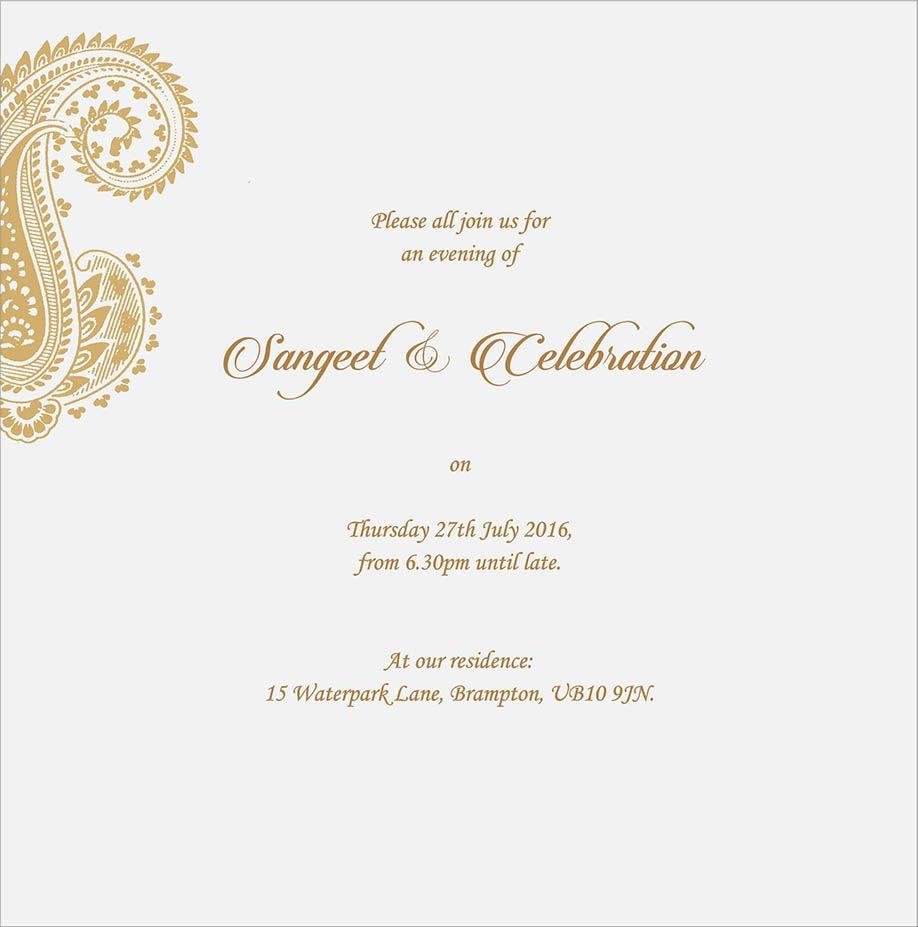 Wedding Invitation Wording For Sangeet Ceremony | Sangeet Ceremony ...