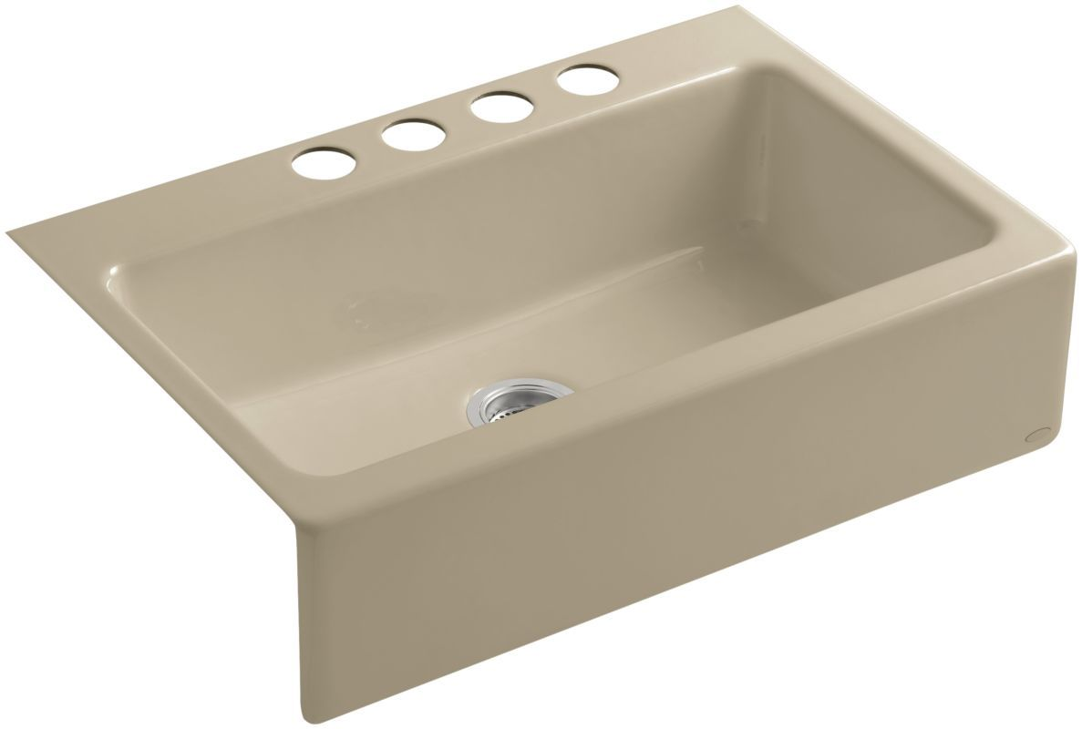 Kohler K 6546 4u Cast Iron Kitchen Sinks Single Bowl Kitchen