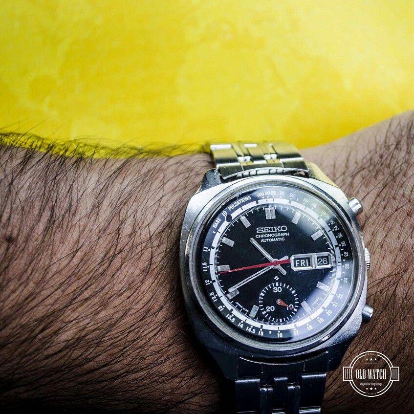 Vintage Chrono Seiko ساعت كورنوگراف اتوماتيك سيكو Daydate با موتوري پيچيده كه تكنولوژي آن با ساعت هاي قيمتي فعلي قابل مقا Old Watches Jewelry Shop Accessories