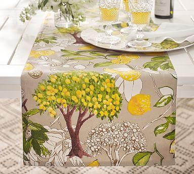 Lemon Branch Table Runner Decor Table Decor Styles