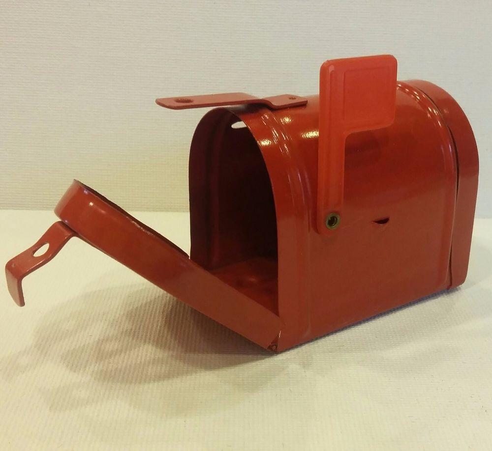 metal mailbox flag. Miniature Metal MAILBOX Home Style MAIL BOX Opens \u0026 W/ Rise Flag RED (poss Mailbox 0