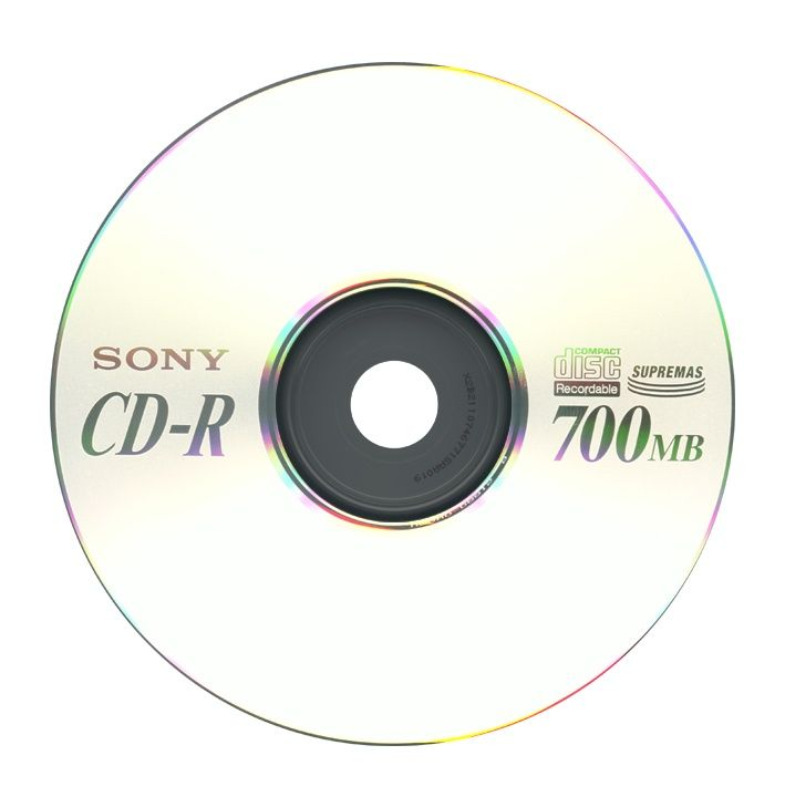 A Blank Compact Disc Which Can Be Recorded On Once Only Audio Storage Storage Devices Digital Audio