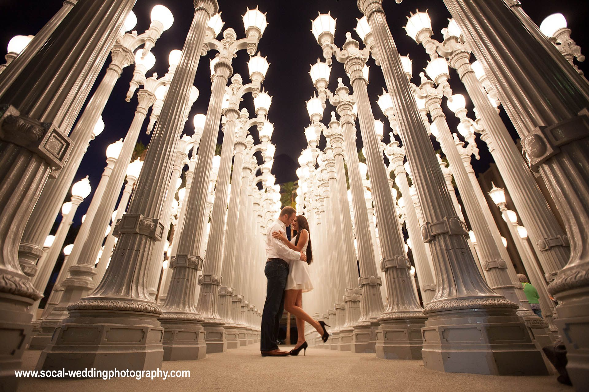 Wedding Engagement Photography At LACMA Lamps