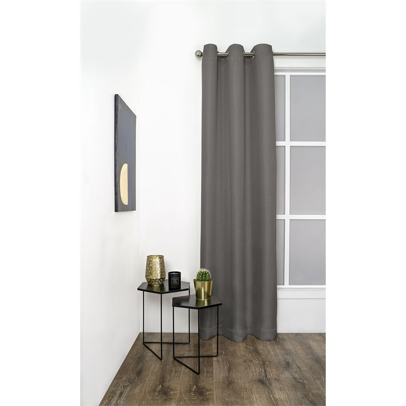 Windoware 1200 X 2230mm Urban Pepper Triple Weave Eyelet Curtain With Images Curtains Curtains With Blinds Inside Mount Blinds