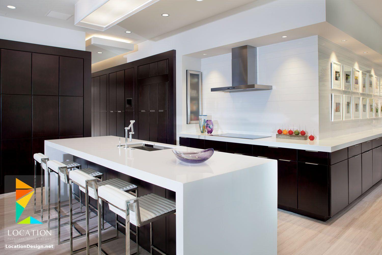 مطابخ اشكال و افكار المطابخ الجديدة 2018 2019 لوكشين ديزين نت Marble Kitchen Countertops Modern Kitchen Design Kitchen Designs Photos