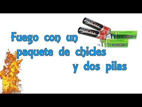 Fuego con un paquete de chicles y dos pilas - Exp Supervivencia (Experimentos Caseros) - YouTube