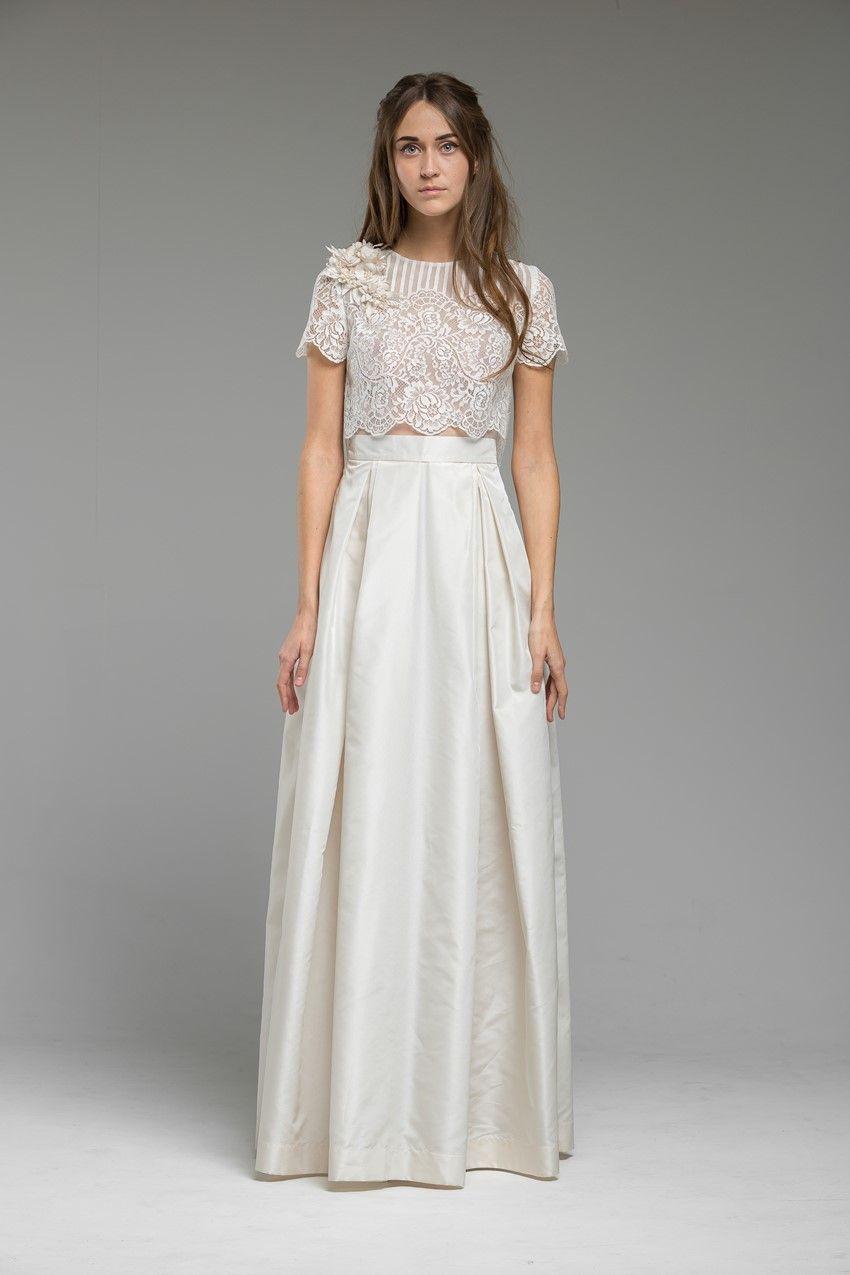 Cropped Top Wedding Dress Meadow From Katya Shehurina
