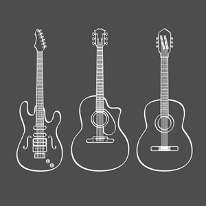 Guitar Logo Vector Download Free Guitar Vector Logo And Icons In Ai Eps Cdr Svg Png Formats Guitar Logo Guitar Doodle Guitar