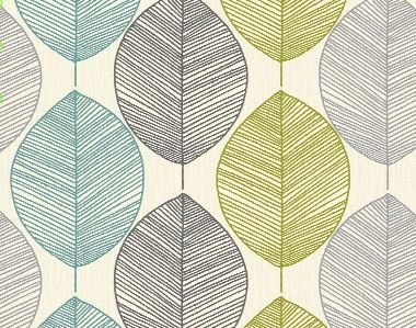 Arthouse opera retro leaf teal lime green grey for Lime green kitchen wallpaper