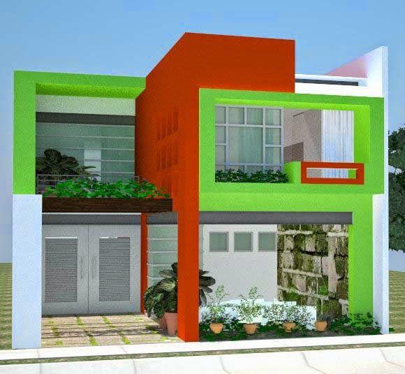 29 Contoh Kombinasi Cat Rumah Minimalis Warna Hijau Yang ...