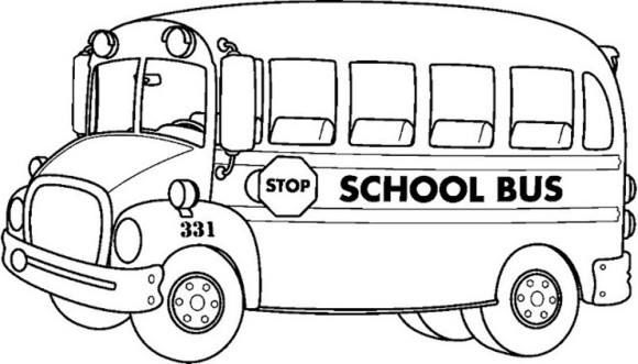 School Bus coloring pages 8 Public Transportation Coloring Pages
