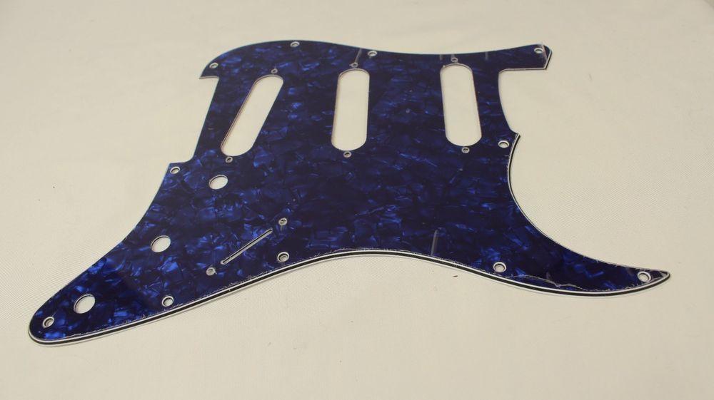 BLACK PEARLOID 11-Hole 4-Ply Pickguard for USA MIM Stratocaster Standard Strat