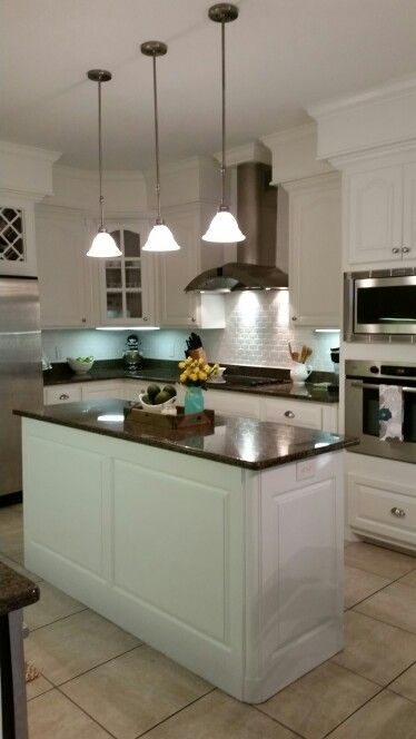 Our kitchen makeover. Sherwin Williams Alabaster cabinets ...