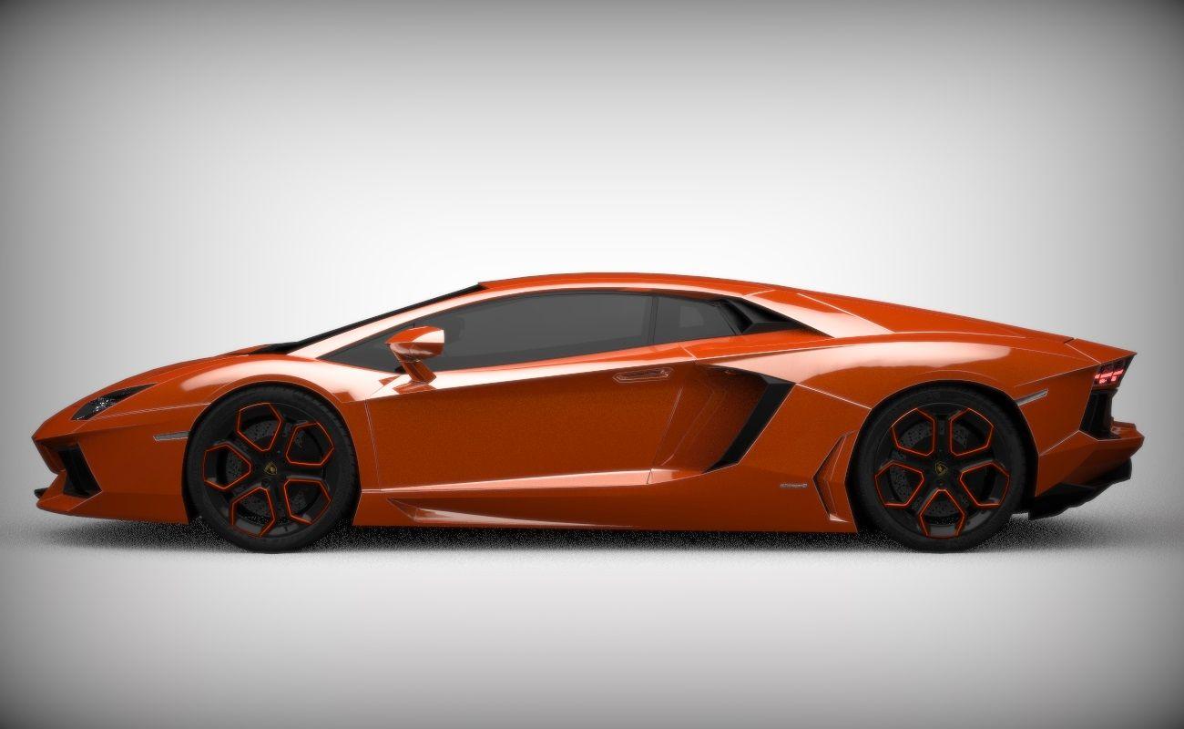Lamborghini Aventador - high resolution 3D rendering and model