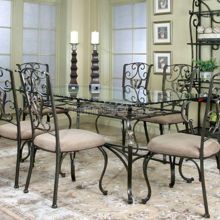 تصاميم طاولات وكراسي حديدية لغرف الطعامتصميم جديد لطاولات الطعام المصنوعة من الحديد مع Glass Dining Table Rectangular Dining Room Table Glass Dining Room Table