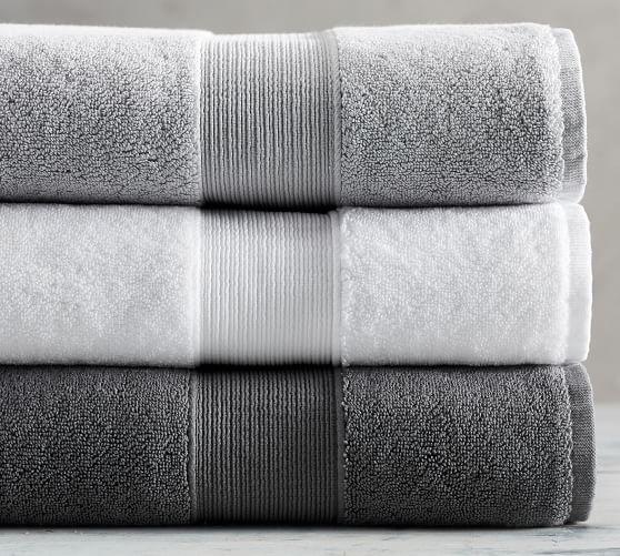 Pb Classic Towels Towel Grey Bath Towels Bath Towels