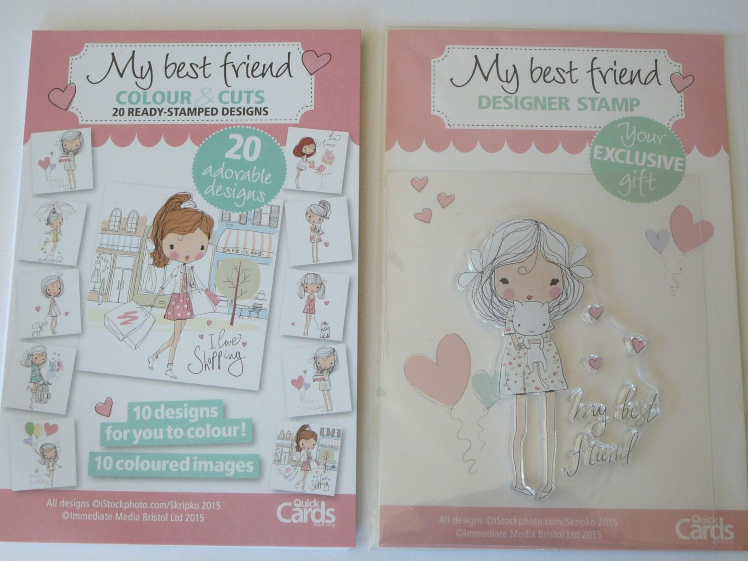 My Best Friend Clear Rubber Stamp Set ~ Scrapbooking, Card Making by…