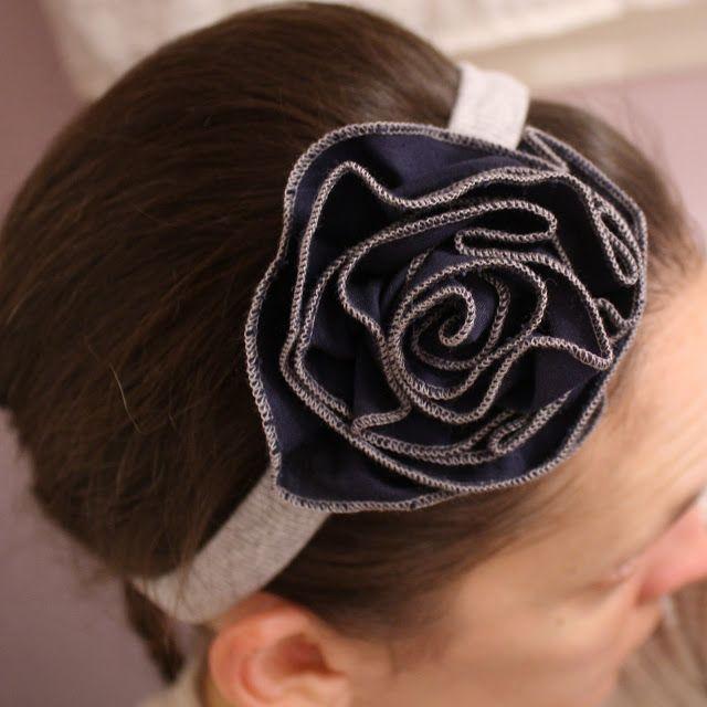 Flower Headband.  Free Tutorial.  Melly Sews.