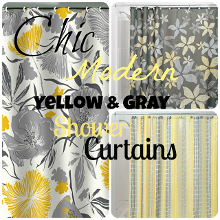 Chic Affordable Yellow And Gray Shower Curtains Gray Shower