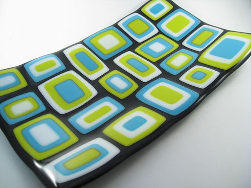 Stacked Fused Glass Plate by Glass Art By Margot, via Flickr