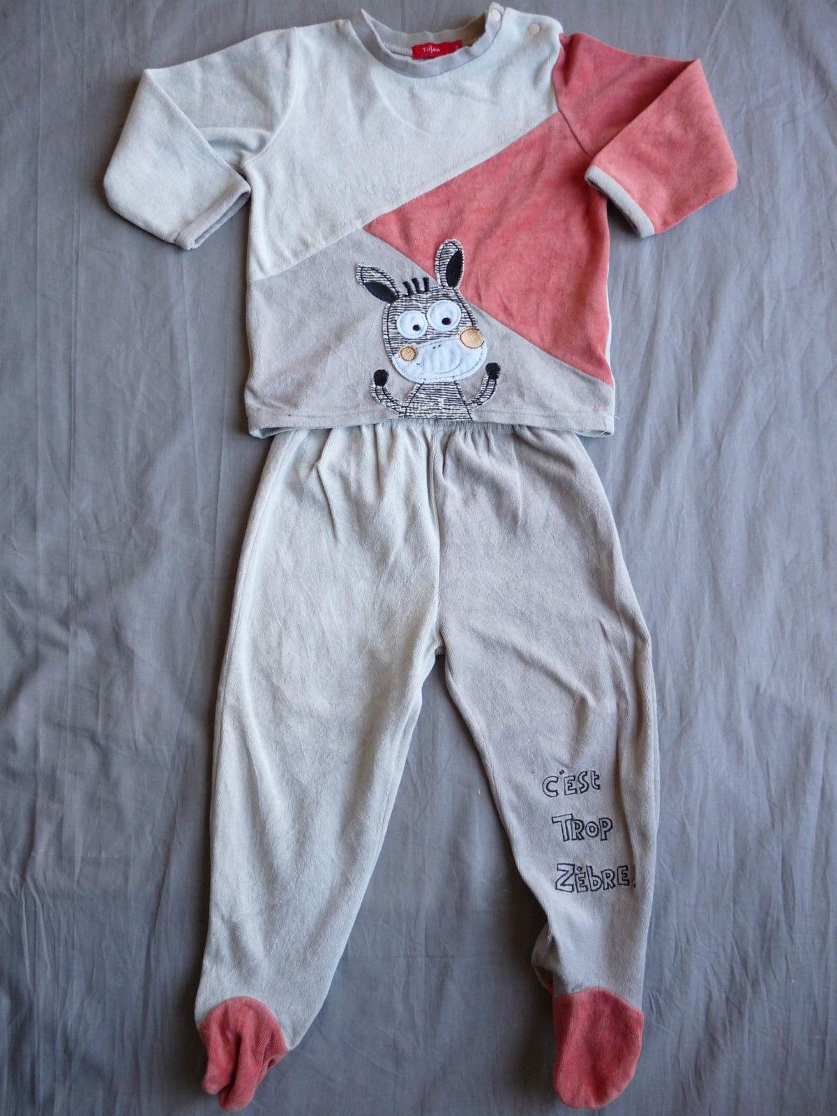 2f73c26a7c1fb TISSAIA   Pyjama deux pièces avec pieds Taille 3 ans in Vêtements ...