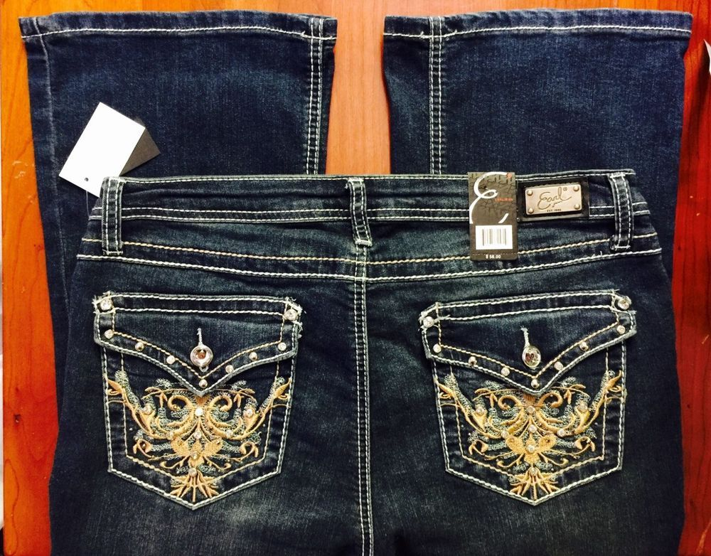 d420e4e1fa9 EARL Jeans Embellished Flap Pocket Bootcut Jeans Bling Me Stretch Torrid  Hot!  EarlJean  BootCut
