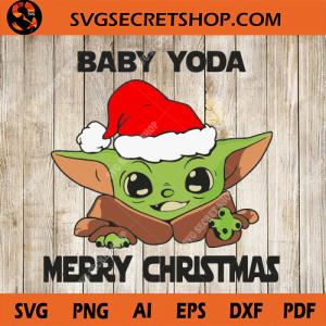 Baby Yoda Merry Christmas SVG, Baby Yoda SVG, Christmas
