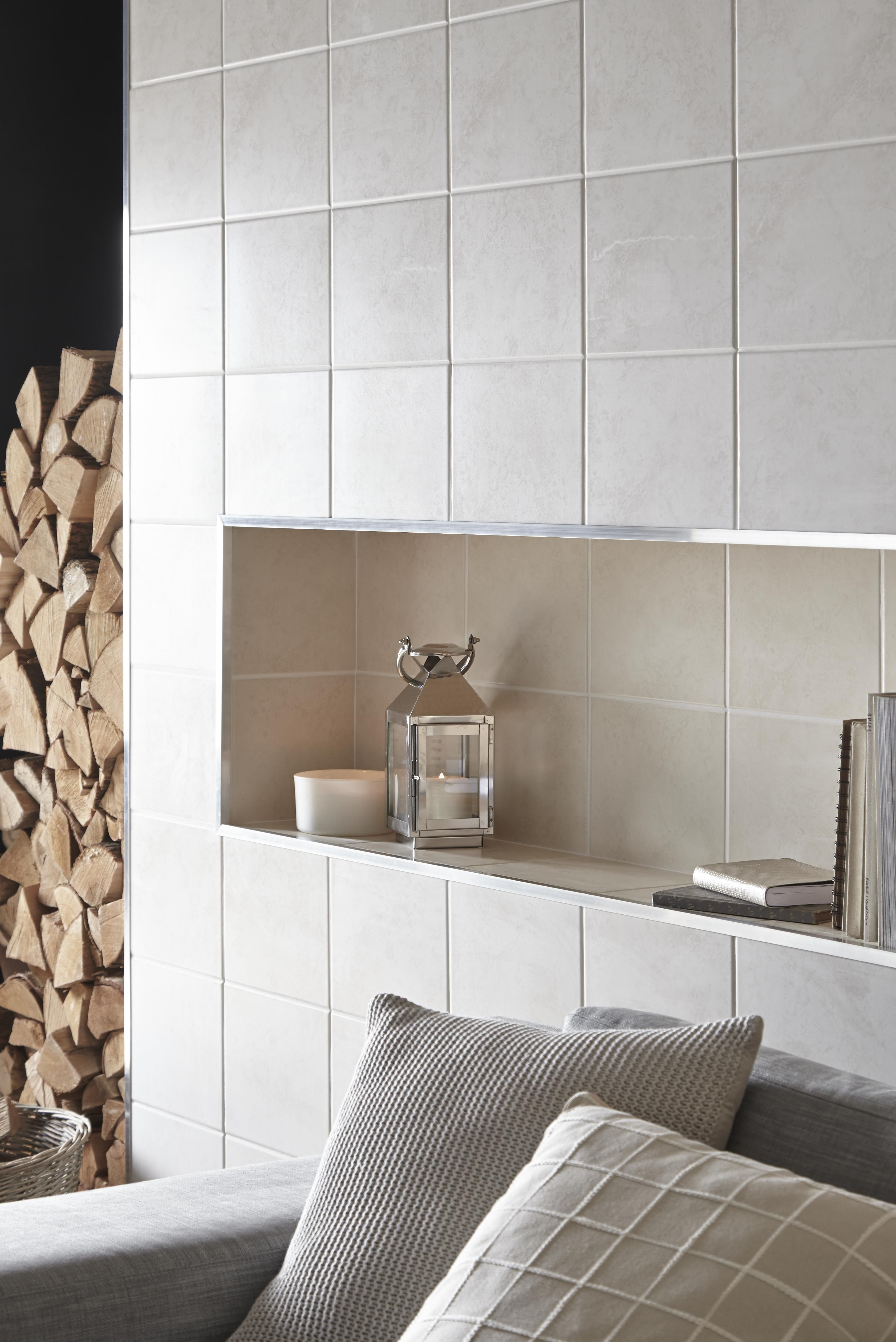 A light classic combination of light beige light grey and black helena light grey ceramic wall tile pack of bq for all your home and garden supplies and advice on all the latest diy trends doublecrazyfo Choice Image