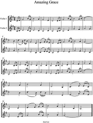 Amazing Grace Violin Duet With Images Violin Sheet Music Duet