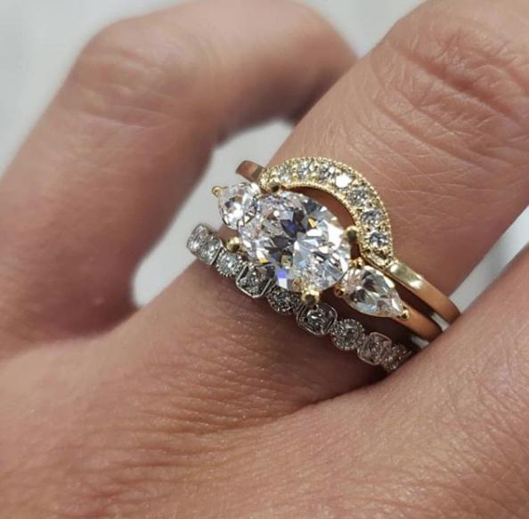 Pin by True Romance on Wedding Ring Stack Ideas Diamond