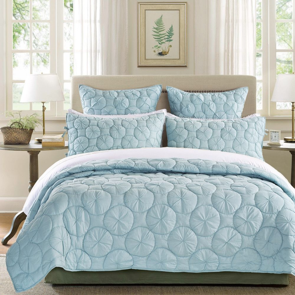 Dream Waltz Luxury Pacific Blue Quilt from