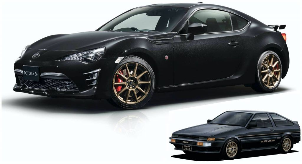 Toyota Gt86 Black Limited Launches In Japan As Ae86 Inspired Swan Song In 2020 Toyota Gt86 Subaru Cars Car Inspiration