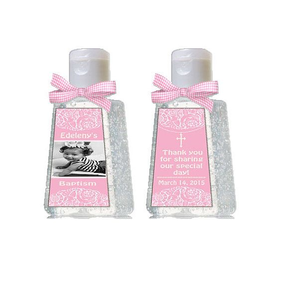 Mini Hand Sanitizer Baptism Girl Baptism Label By Detaillicious