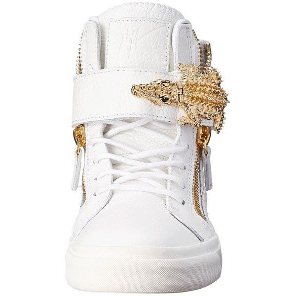 Giuseppe Zanotti RW4018 ($1,325) ❤ liked on Polyvore featuring shoes, sneakers, взуття, giuseppe zanotti shoes, high top cross trainers, zipper sneakers, cross trainers and velcro sneakers