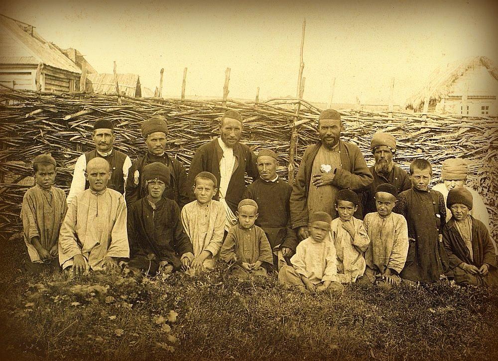 архивные старые фотографии татарского народа осенних