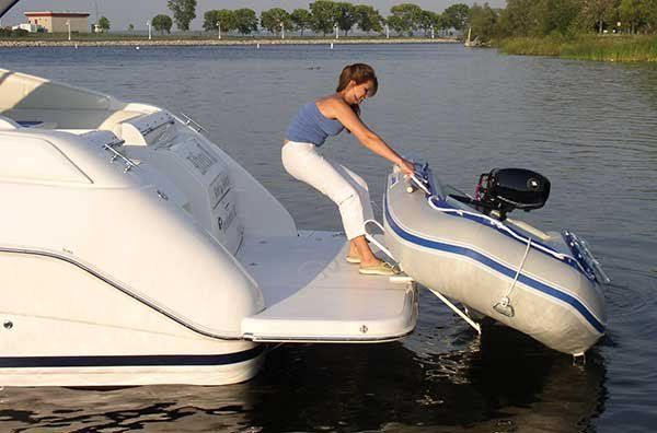 Pull Up Slide Up Davits As The Center Of Weight Comes