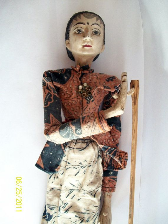 Antique Wooden Puppet Doll
