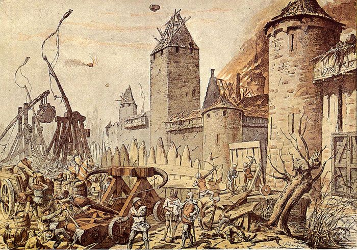 Besieging Armies Used A Wide Variety Of Siege Engines Including