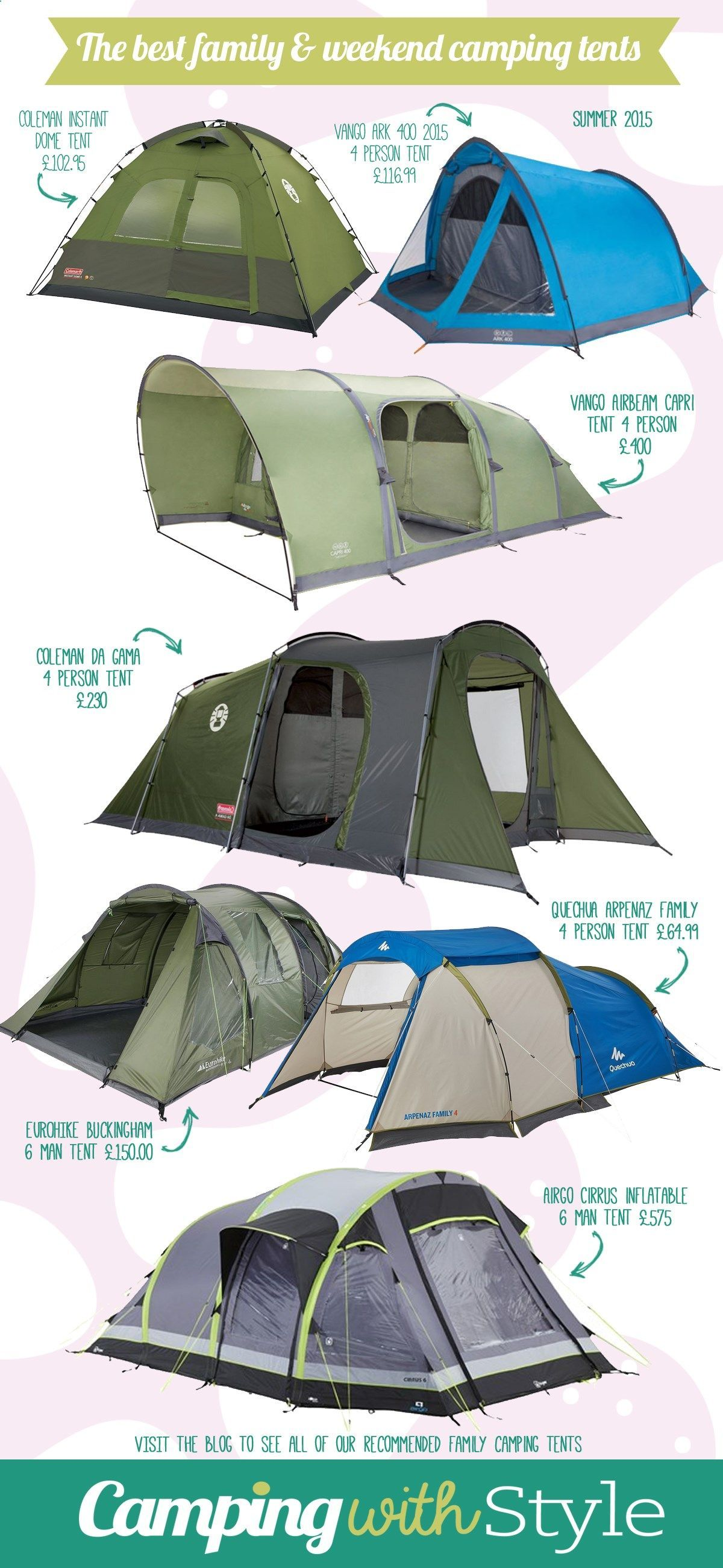 The best family camping and weekend tents for summer tents