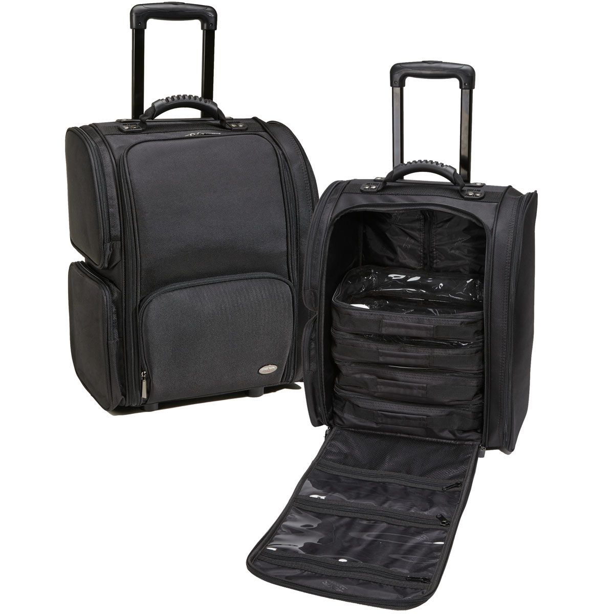 Professional Soft Sided Rolling Makeup Case W Pouches