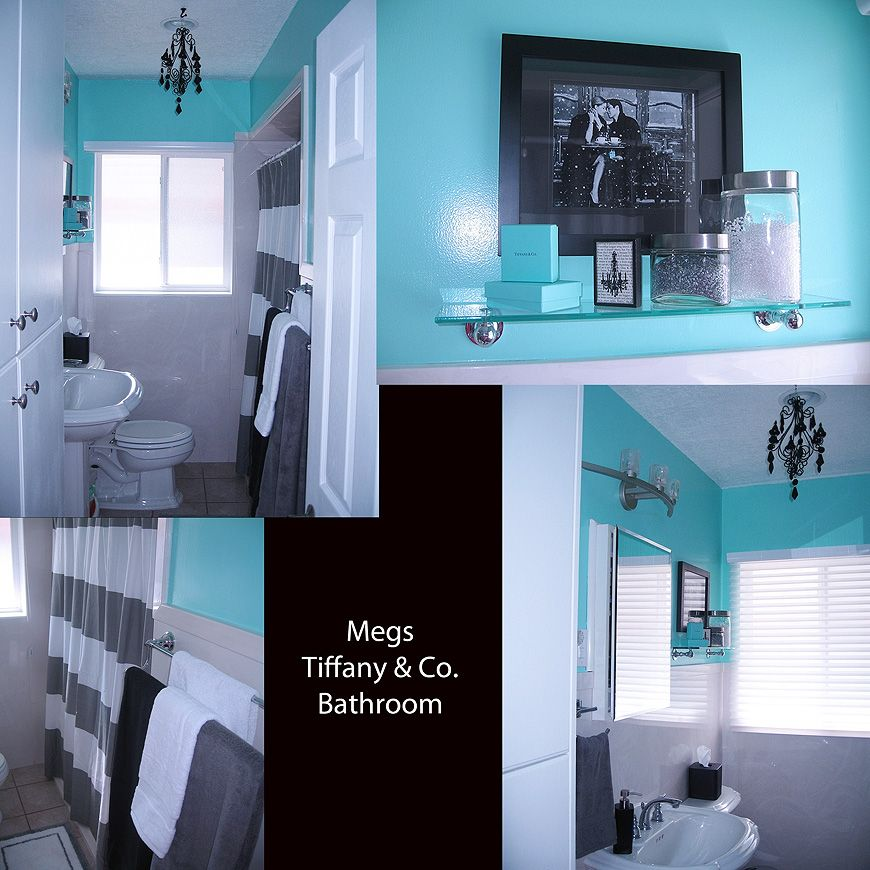 Tiffany Co Inspired Bathroom Blue Bathroom Accessories