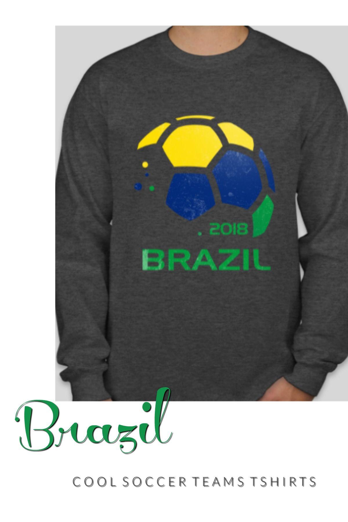 6eb63de46 Brazil Soccer T Shirt - Futbol Fan Clothing. Cool Soccer Teams T Shirts.
