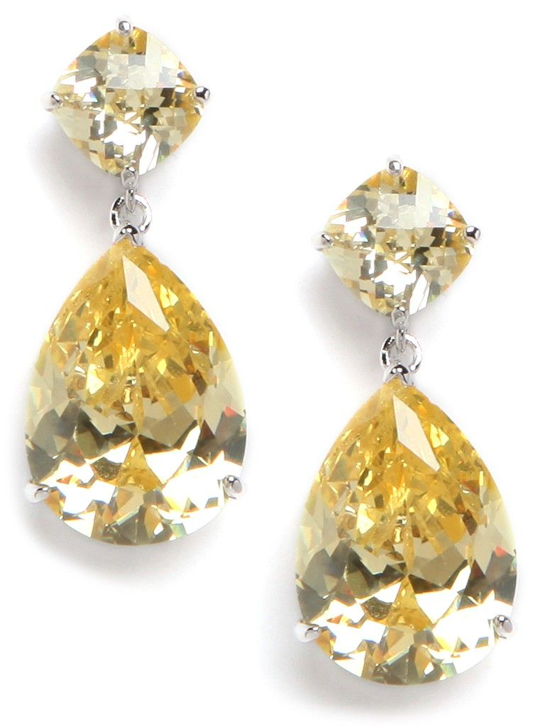Mimicking Rare Canary Diamonds These Clic Faceted Gl Drop Earrings Are Anything But Ordinary
