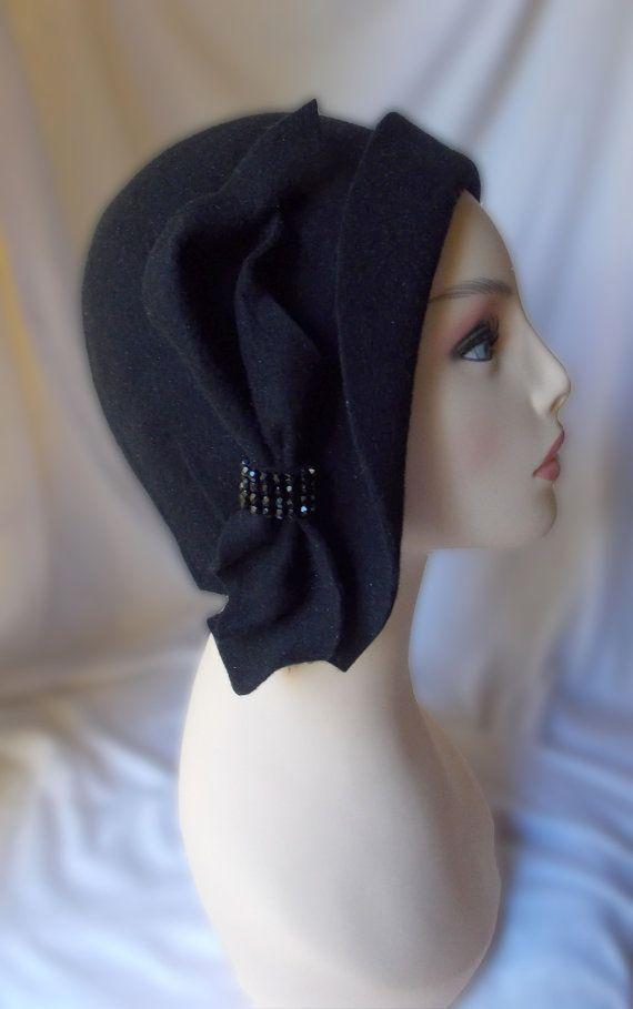 da351c160d57a Sombrero cloché Sombrero años 20 Sombrero vintage Sombrero