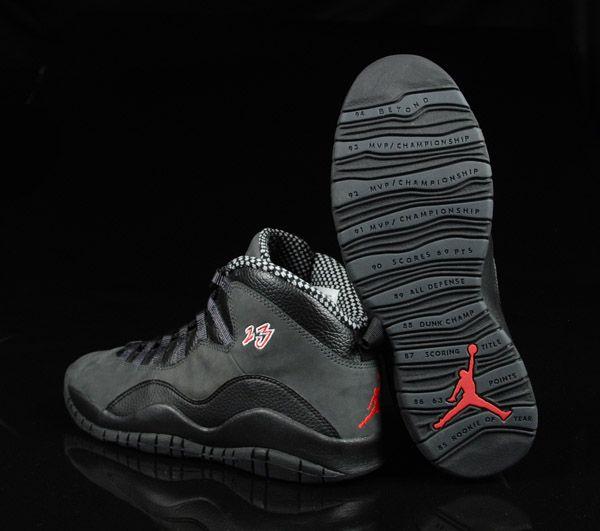 Air Jordan 10 Noir  / Ombre  / True Red Sox